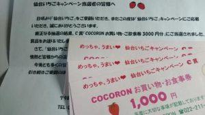 念願の当選品!仙台いちごキャンペーン